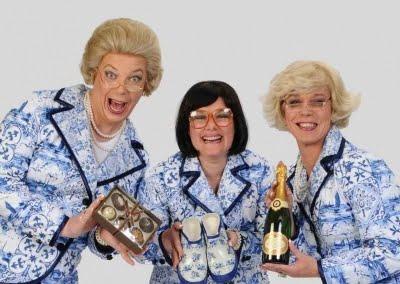 Hostesses de Dames in Delfts Blauw