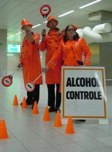 Traffic control by lollipopmen