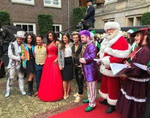 Kerstman tijdens de RTL kerstpresentatie in The Grand