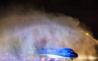 De Dames nemen afscheid van de Fokker70
