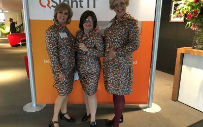 De Dames in actie tijdens congres