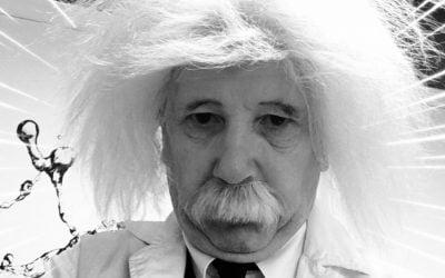 Albert Einstein op klantendag Aboma