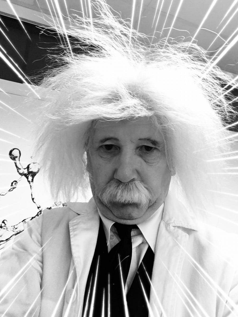 Albert Einstein bij klantendag Aboma