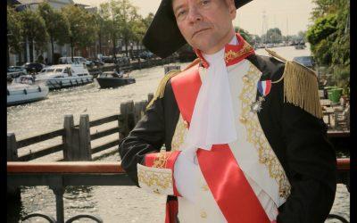 Napoleon inspecteert de Groote Zeesluis in Muiden