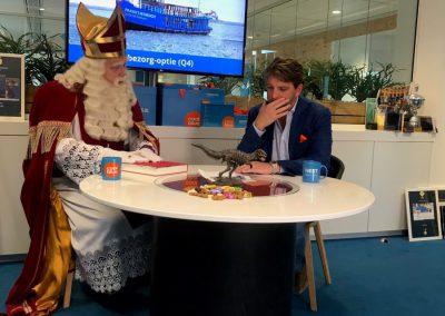 Sinterklaas en Pieter Zwart