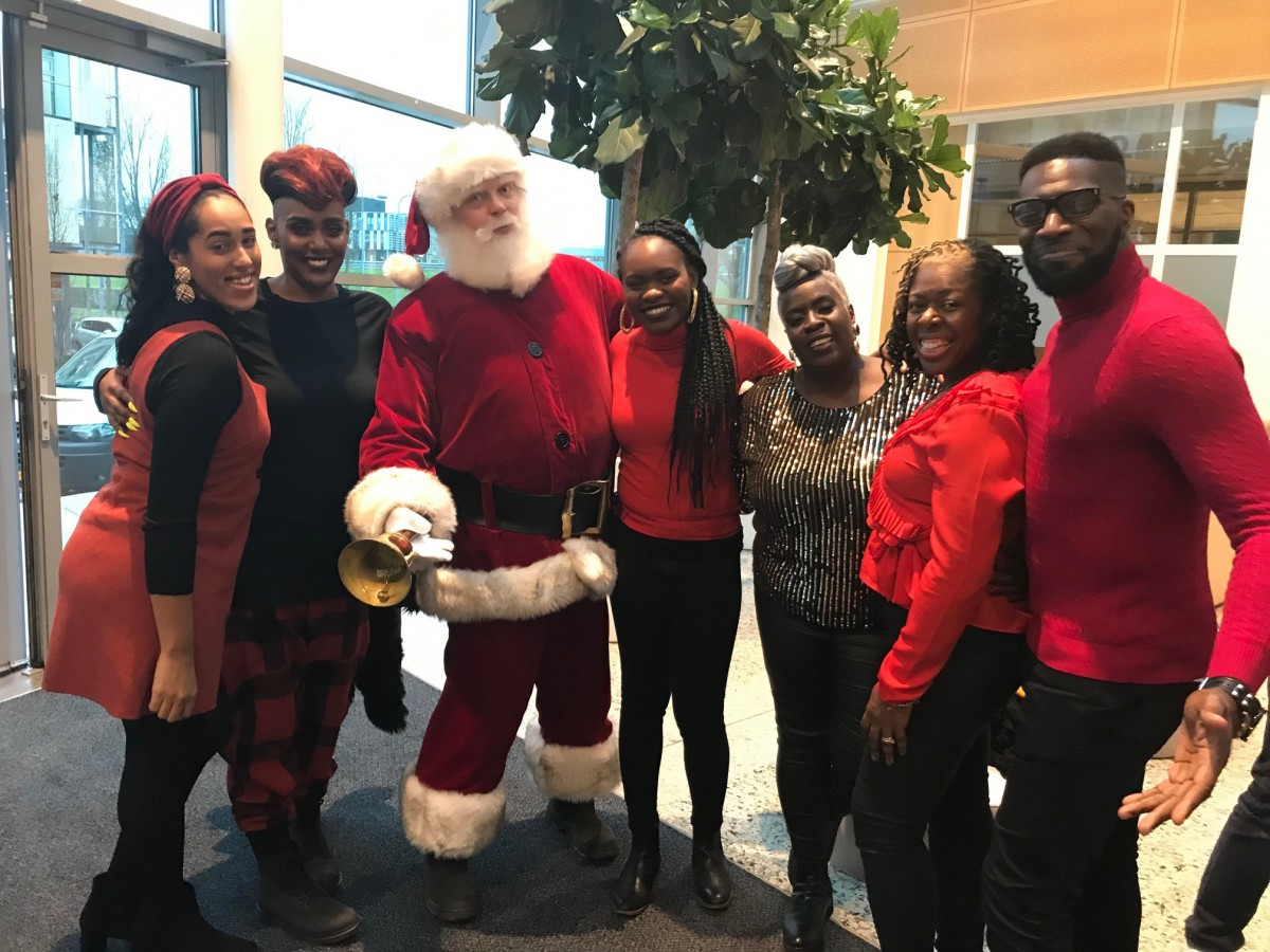 Santa had a meeting with the Kingdom Choir