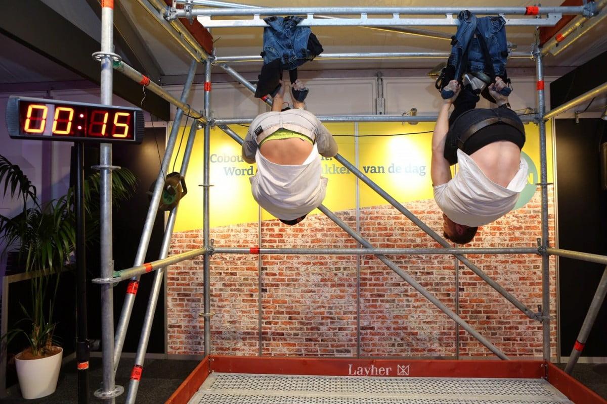 spijkerbroek hangen bouwbeurs2019