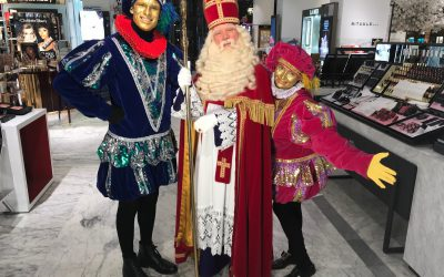 Sinterklaas en Klimpieten in Bijenkorf reclame